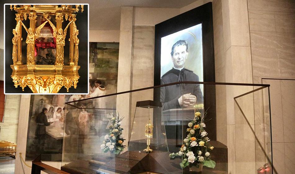Sparita la reliquia di Don Bosco