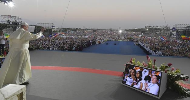 """Panama – """"I giovani devono essere guardati con gli occhi di Dio"""": il Santo Padre ha parlato di Don Bosco a Panama2019"""